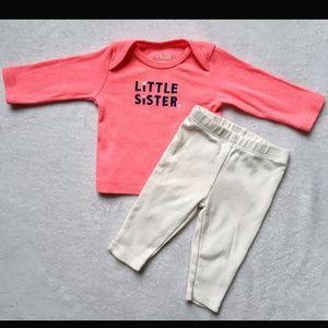 """Carter's """"Little Sister"""" 2 piece set"""